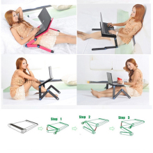 Computer Desks Portable Adjustable Foldable Laptop Notebook Lap PC Folding Desk Table Vented Stand Bed Tray size 60 2 40 2 28 7cm dormitory desk lazy folding table portable notebook computer desk bed