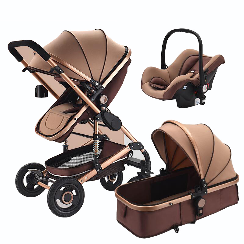 Chariot bébé 2 en 1/3 en 1 multi-fonctionnel peut s'asseoir haut paysage poussette double-way choc pliant poussette livraison gratuite