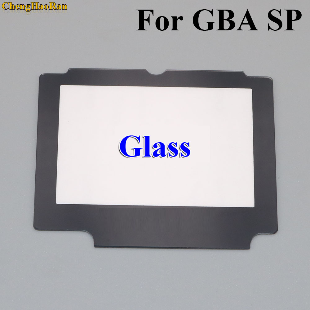 ChengHaoRan 5x Glass Replacement LCD Display Screen Lens Protection Panel Cover Repair part for Nintendo GBA SP W/ Adhesive Tape-in Screens from Consumer Electronics