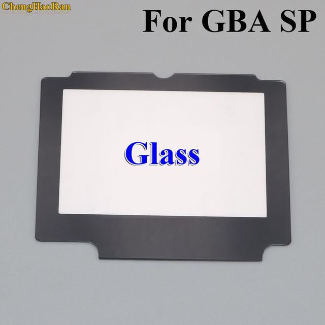 ChengHaoRan 5x Glass Replacement LCD Display Screen Lens Protection Panel Cover Repair part for Nintendo GBA SP W/ Adhesive Tape
