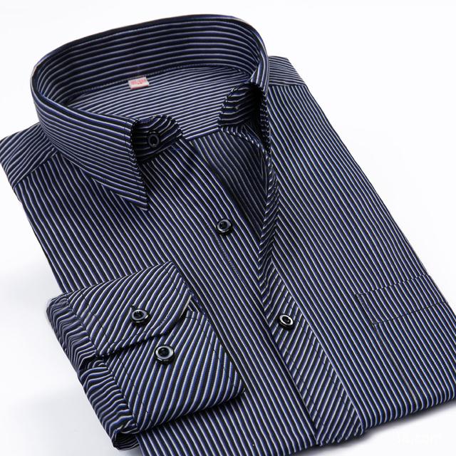 Marca Mens Camisas de Algodón Camisa de Los Hombres 5xl 6xl Tallas Grandes Para Hombre Camisas de Vestir Overhemd Manche Longue Chemise Homme Camiseta Masculina