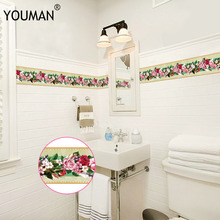 10M PVC 3D Wallpaper Border Self-adhesive Skirting Line Waterproof Sticker Kitchen Bathroom Removable Modern Tile Wall