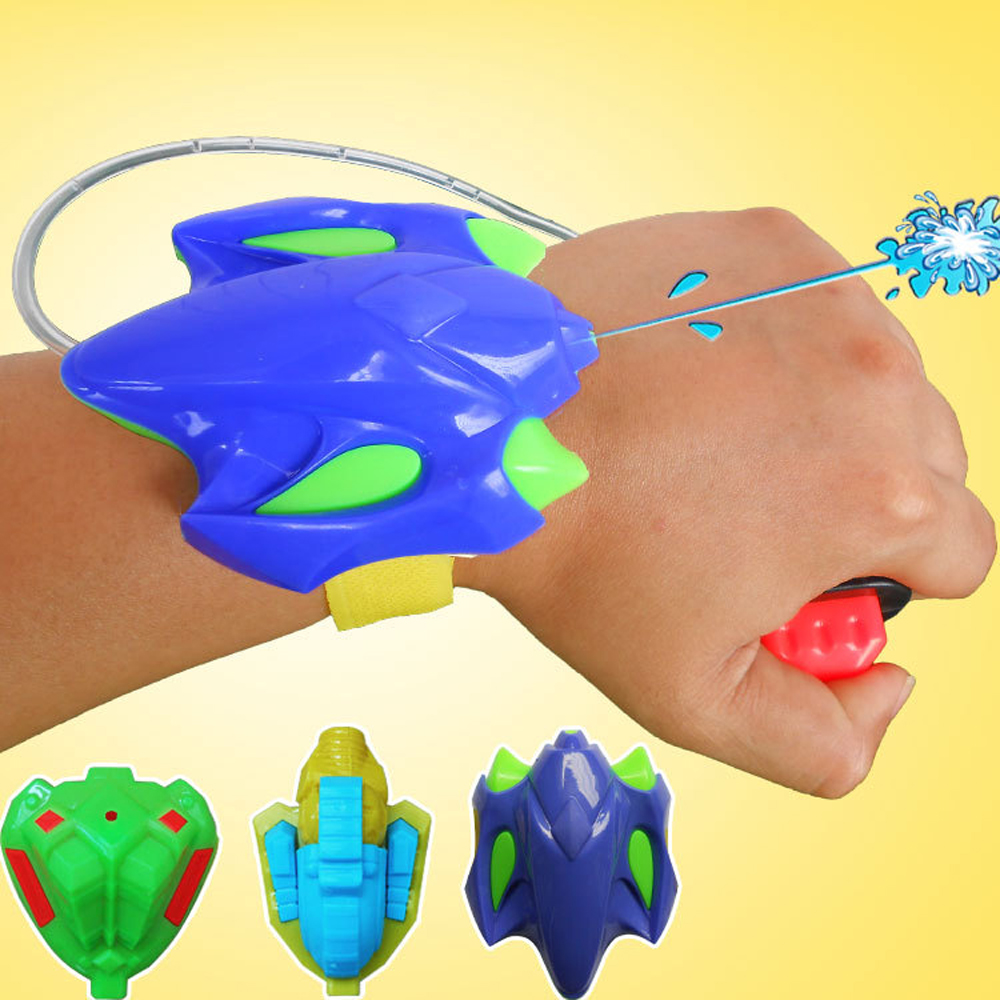 Funny Intelligent Children Favorite Summer Beach Toys Educational Play Water Fight Pistol Swimming Wrist Water Guns Boys Gift