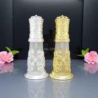 30 ml Vintage Buzlu Cam Altın Gümüş Sprey Şişe Parfüm Konteyner Şişeler Taşınabilir Boş Kozmetik Ambalaj Şişe Atomizer