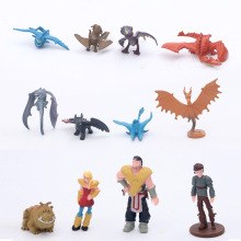 12Pcs Dragon Toothless Family Action figure Light Fury Toys For Childrens Birthday Gifts