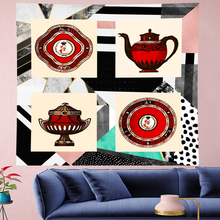 Personality Geometric stripe abstract wall hanging structure plate Tapestries hippies Psychedelic Wall carpet Hanging Home Decor