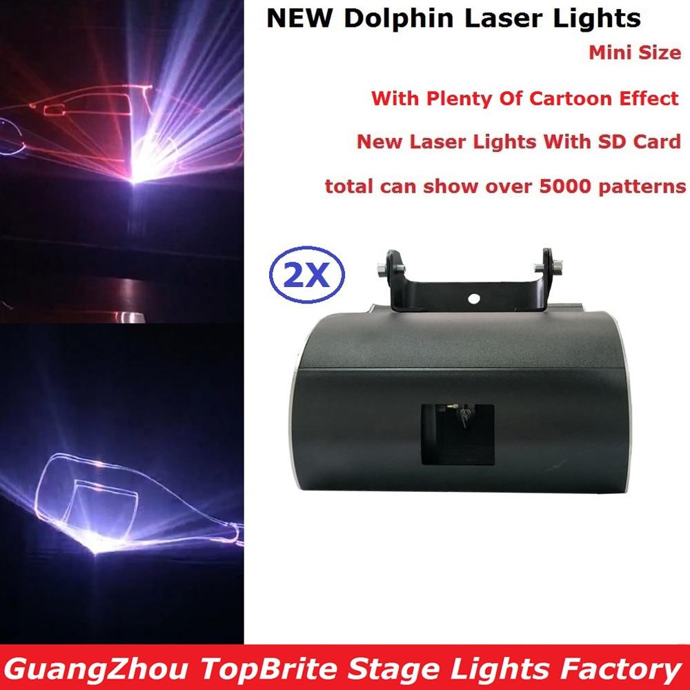 2 Pack Free Shipping 1W Laser Light RGB Full Color Animation Beam Stage Lighting KTV Disco DJ Lights 1000mW Cartoon Laser Lights
