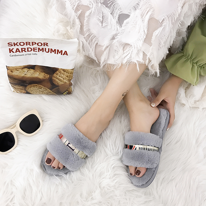 Casual Slipper Flip Flop Sandal 2018 New Womens Slippers Zapatos Mujer Ladies Slip On Sliders Fluffy Faux Fur Flat Size 36~41 wd04 shoes woman flip flops womens ladies slip on sliders fluffy faux fur flat slip new