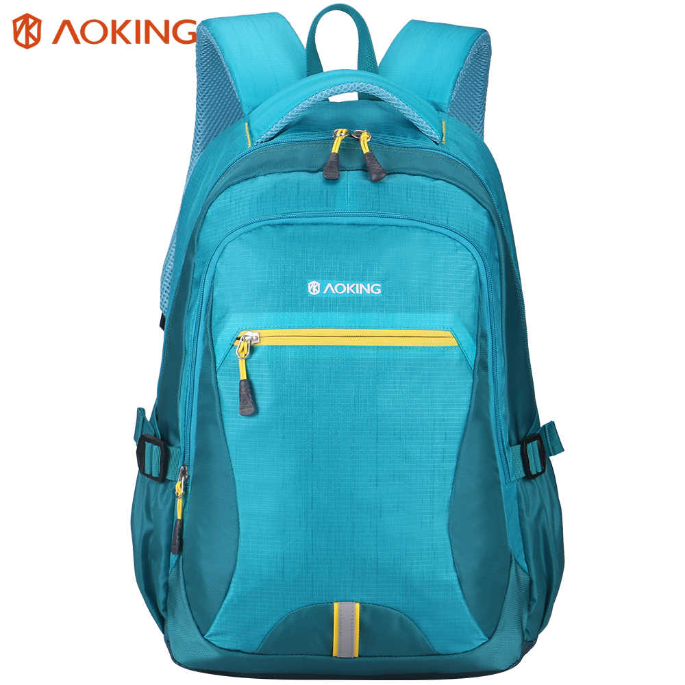 Aoking Soft Casual Backpack Men Women Waterproof Travel Backpack with Reflectors Rucksack Function Laptop Backpack Daypacks