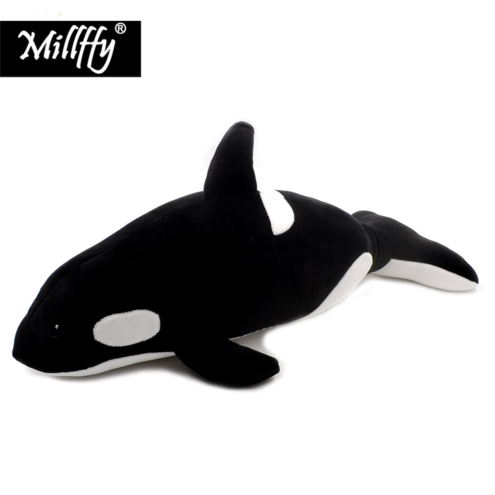 Dropshipping Millffy <font><b>plush</b></font> killer <font><b>whale</b></font> stuffed Sea animals plushy <font><b>orca</b></font> peluche dolphins doll soft toys for kids image