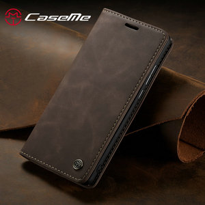 CaseMe For Xiaomi Mi9 Mi9T Retro Magnetic Wallet Leather Case For Redmi Note 8 Luxury Flip Protective Case K20 Note 8 10 CC9 Pro(China)