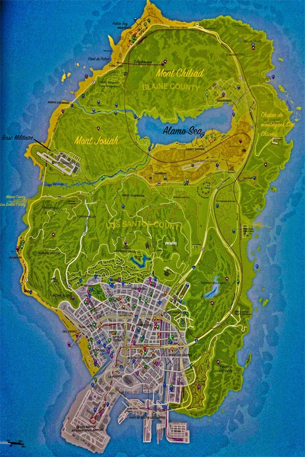 GTA San Andreas Poster GTA San Andreas Wallpapers Custom Game Map Wall Sticker Grand Theft Auto V Stickers Home Decor #PN#2421#