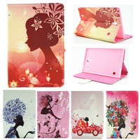 Voor Samsung Galaxy Tab 8.4 S T700 T701 T705 Cover Bling Wallet Leather PU Stand Case Meisje Kids Gift Beschermen Cover Tablet Case
