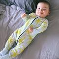 Mamelucos Del invierno Del Bebé Del Mono de Ropa de Bebes Niño Trajes Pijamas Duermen Desgaste Enredadera Recién Nacido Bebé Ropa Chica Onesie