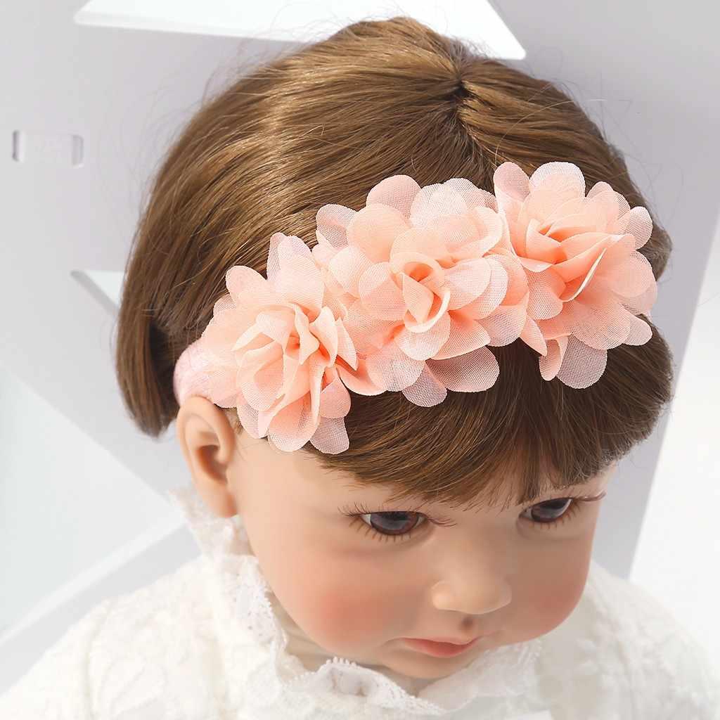 หักดอกไม้สีชมพูใหม่เด็กดอกไม้ Headband สาวลูกไม้ทารกผมเด็กน่ารักเด็กหญิง Hairbands bandeau