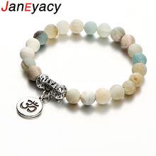 Janeyacy популярный винтажный женский браслет om rune мужской