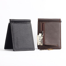 Genuine Leather Men Small Wallets With Money Clip Zip Coin Pocket Cards Short Designer Luxury Famous Brand Man Purses Wholesales