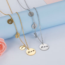 Women's Stainless Steel Necklace MOM Daughter Son Necklace Women Love Boys Girls Gold Necklace Silver Necklaces Mom Jewelry Mama(China)