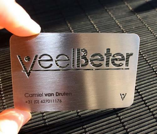 Free Design Metallic Business Cards Custom Metal Visit Card Vip