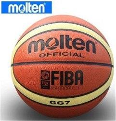 Envío Gratis Molten GG7 Baloncesto, Size7 baloncesto, PU Materia, 1 unids/lote Libre con bomba de bola + bolsa de red + 2 unids pins