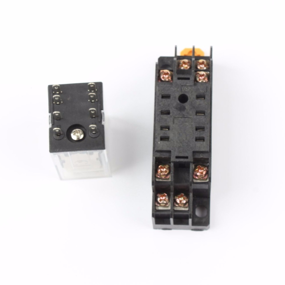 My2p Hh52p My2nj Relay 220v Ac Coil High Quality General Purpose Pickup Voltage Dpdt Micro Mini With Socket Base Holder In Relays From Home Improvement On