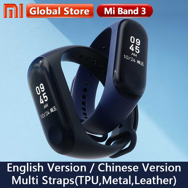 Original Xiao mi mi Band 3 Globale Version Smart Armband Multi Sprache mi band 3 OLED Touchscreen mi band3 fitness Bracele