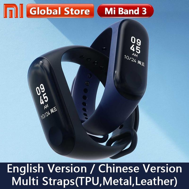 Original Xiaomi Mi Band 3 Global Version Smart Bracelet Multi Language Miband 3 OLED Touch Screen Mi band3 Fitness Bracele