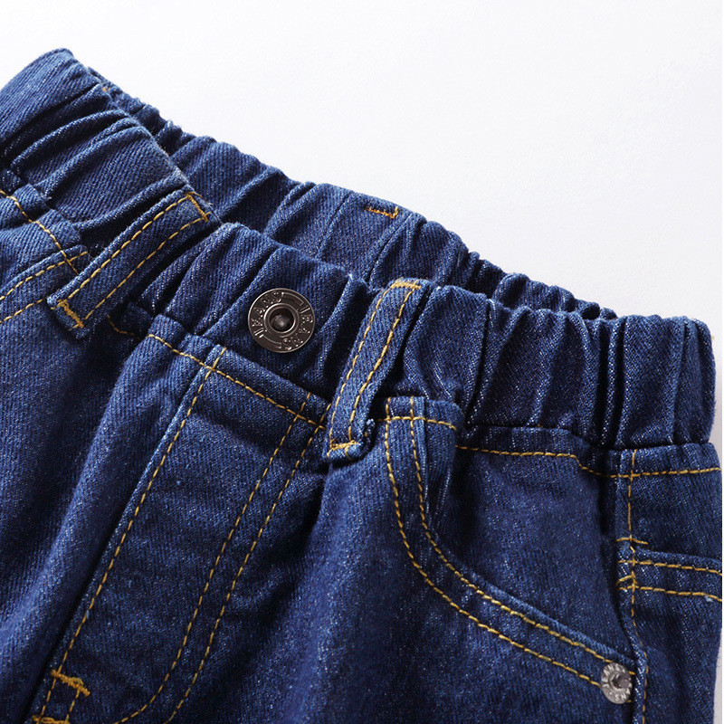 Jiuhehall Spring Autumn Children Cowboy Trousers Solid Casual Jeans For Kids 3 - 7 Years Baby Boys Full Length Pants CMB937 (3)