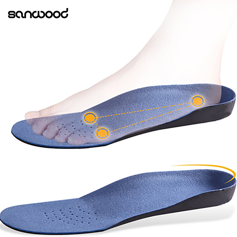 все цены на Men Women Heel Cup Pronation Flat Feet Orthotic Arch Support Cushion Pad Insoles