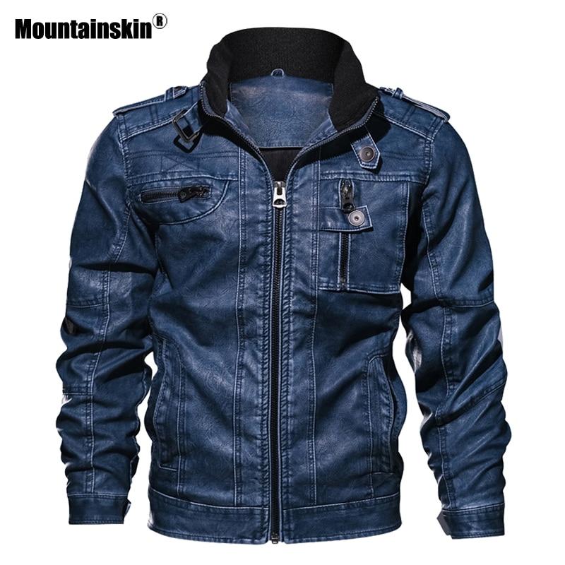 Alpinskin 7XL hommes veste en cuir synthétique polyuréthane en cuir manteau automne Slim Fit Faux cuir moto vestes hommes manteaux marque vêtements SA591 - 2