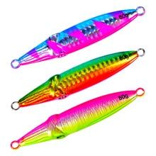 2pcs 8/9/10/11cm 40/60/80/100g Fishing Jigs Sluggish Shake Metallic Jig Fishing Lure Excessive Reflection Iron Plate Lengthy Shot Laser Baits