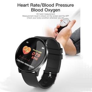 Image 2 - 2019 heißer Smart Uhr Herz Rate Blutdruck Smart Uhr Männer Bluetooth Armband Smartwatch Frauen für Apple IOS Android Telefon