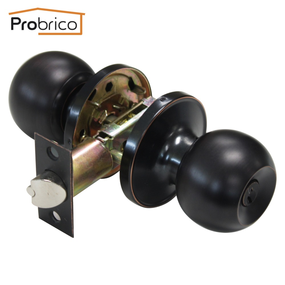 Probrico Security Door Lock With Key Stainless Steel Safe Entrance Lock Oil Rubbed Bronze DL607ORBET probrico stainless steel security door lock with key dl607snet safe lock door handles entrance locker usa domestic delivery