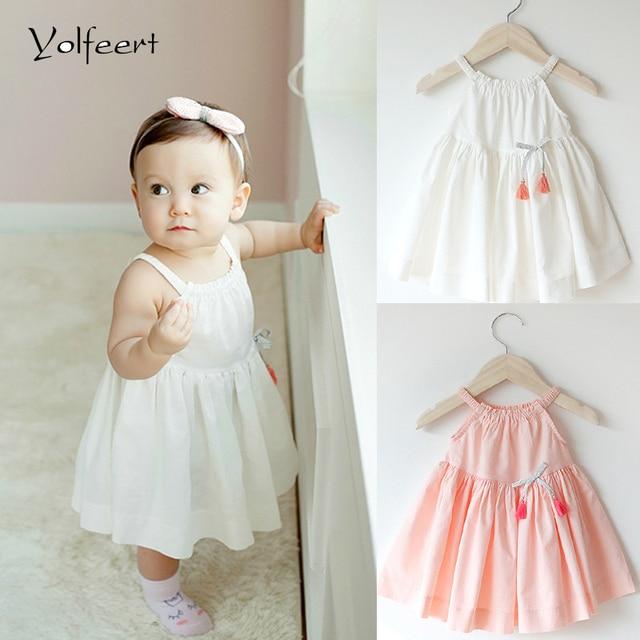 d6d92aa49 YOLFEERT 6 12M 12 18M New Infant Baby Girl Dress 1 Year Girl ...