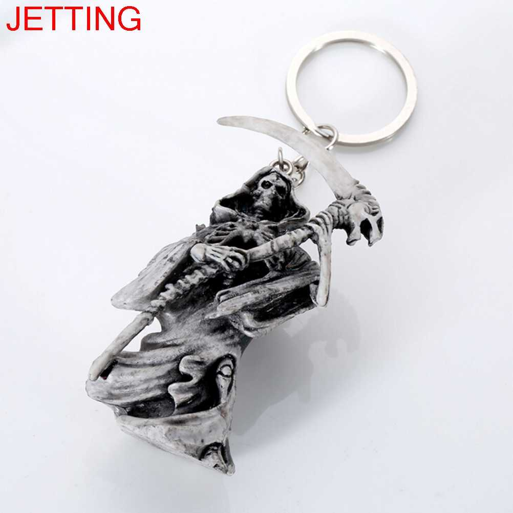 1Pc Skull Keychain Rubber Devil Death Monster Car Key Chain Accessories