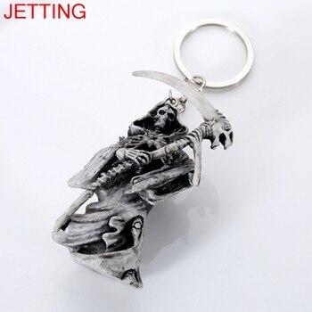 1 шт череп брелок резиновый дьявол смерти Монстр аксессуары на цепочке для ключей от автомобиля подарок