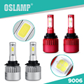 Oslamp COB Leds Automobile Single Beam HB4/9006 Headlight Kits for Car Auto Led Headlight 2pcs 9006 SUV COB Fog Lamps All-in-one