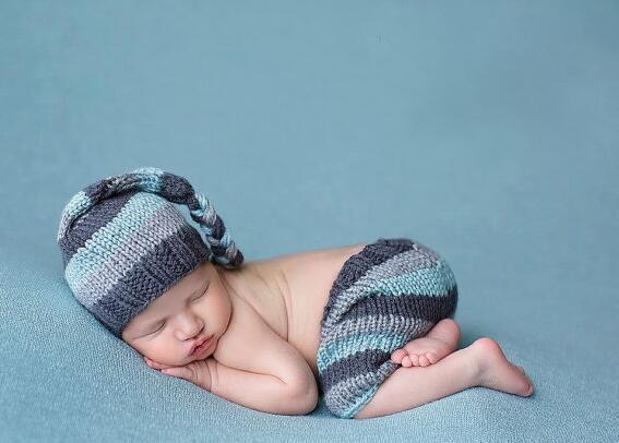 0-6мес новорожденный мальчик фотографии реквизит стрелять ручной крючком костюм младенческой шапочка + брюки одежда set baby фотография фотография