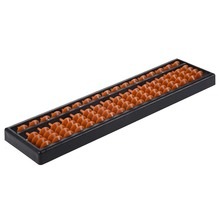 Plastic Abacus Arithmetic Abacus Kids Calculation Tool 17 digits 9 column hangering plastic abacus chinese soroban tool in mathematics education for teacher calculation tool xmf007