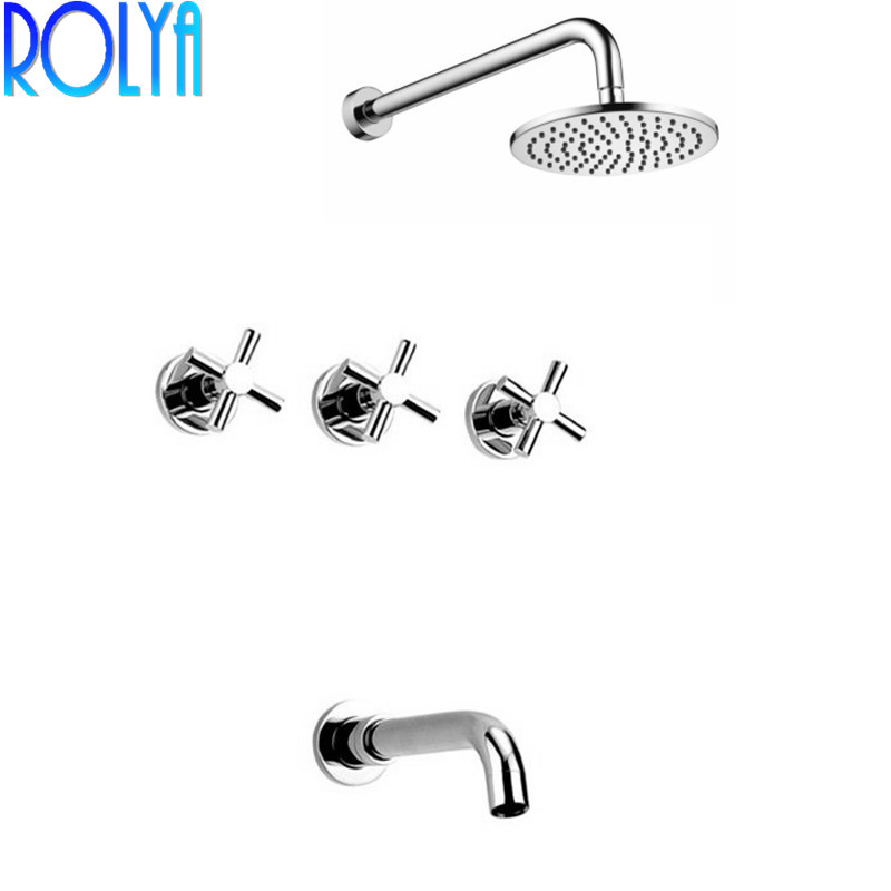 Rolya Ronda ensemble de douche mural salle de bain système de douche mural Chrome