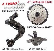 LTWOO велосипед A7 1×10-Speed рычаг переключения + задний переключатель + цепь + кассета 11-42 T, 11-46 T, GX, NX, X7, X9 совместимый