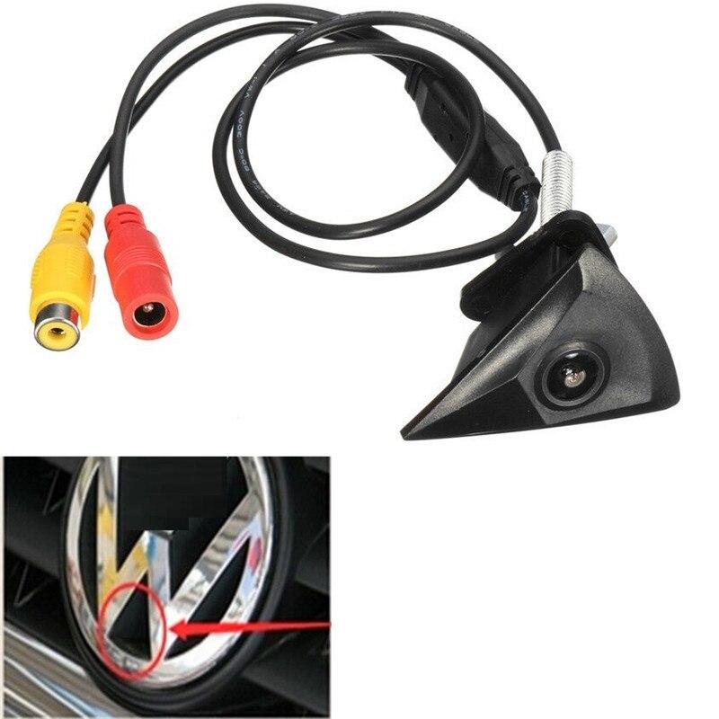 車のフロントビューカメラ VW フォルクスワーゲンゴルフジェッタトゥアレグパサートポロティグアンボラ防水ワイド度ロゴ用の組み込み VW