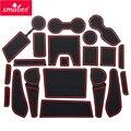 Smabee слот для ворот Накладка для CHEVROLET TRAILBLAZER 2013-2016 Внутренняя дверь коврик/чашка Нескользящие коврики красный/белый/черный 20 шт