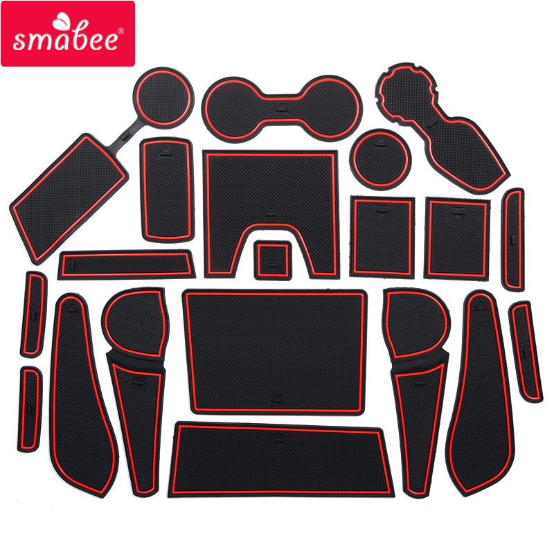 smabee Gate slot pad For CHEVROLET TRAILBLAZER 2013-2016 Interior Door Pad/Cup Non-slip mats red/white/black 20PCS