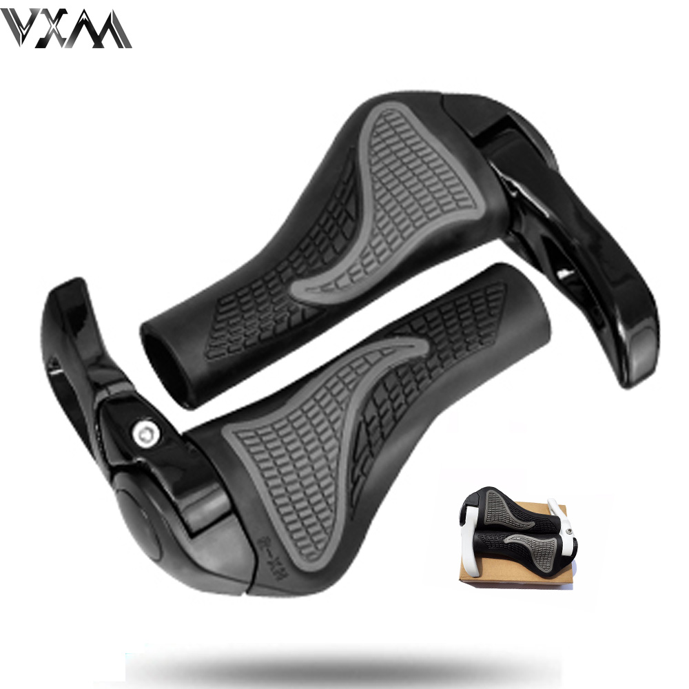 VXM Durable Anti-slip Rubber Aluminum Alloy Integrated Bicycle Handlebar Grips beatuty design MTB Bikes Handlebar Bicycle Parts