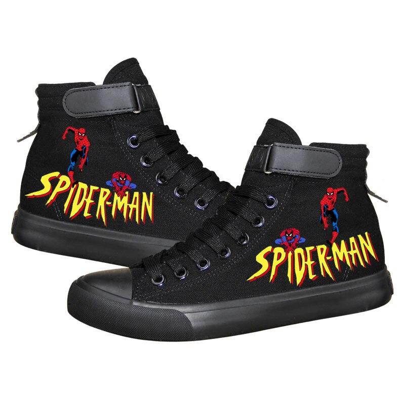 Super 04 Cores Casuais 01 02 Estudante Hero Avengers The Lona 08 Luz Impressão Moda De Sapatilhas 03 Marvel 06 07 10 05 Sapatos A Homem 09 Da Unissex Aranha ZHvqBB