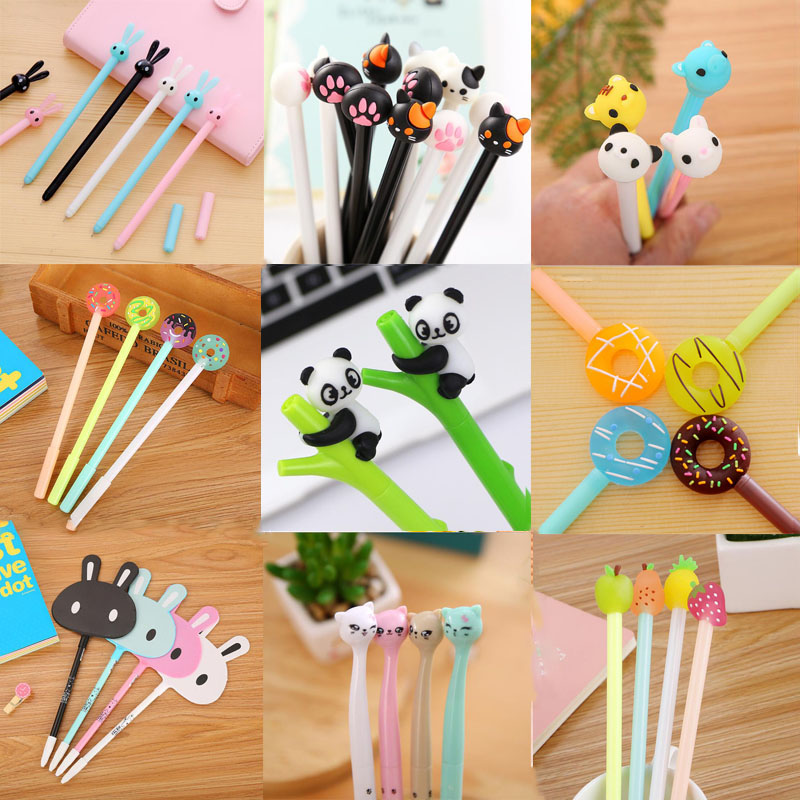 Pens For School Gel Pen Cartoon Writing Tool Chancellory Office Stationery Student Signing Pens For School The Office Supplies