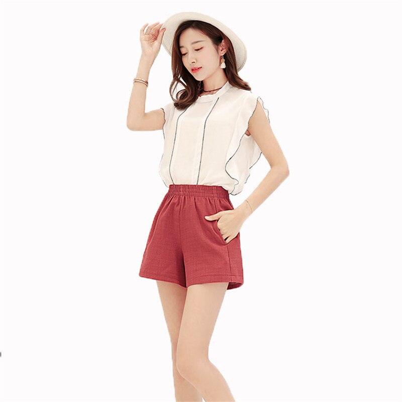 Thin Spring Summer Women Shorts Fashion Casual Slim Wild High Waist Shorts 2019 New Large size Beach Wide Leg Women Shorts YH38