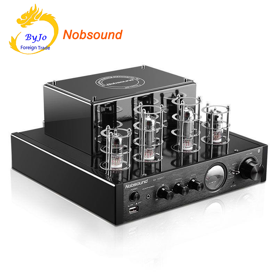 Nobsound MS-10D MKII Tube Amplifier Black HI-FI Stereo Amplifier 25W*2 Vaccum Tube AMP Support Bluetooth and USB 110V or 220V nobsound ms 10d mkii hifi 2 0 tube amplifier usb bluetooth amplifier audio amplifier 25w 2 top