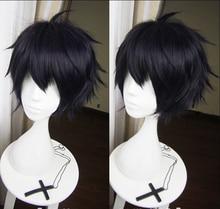 Hohe Qualität Anime Seraph der Ende Yuichiro Hyakuya Cosplay Perücke Schwarz Mix Blue Heat Resistant Synthetische Haar Perücken + perücke Kappe